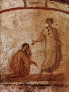 Healing_of_a_bleeding_women_Marcellinus-Peter-Catacomb_zpsfe2aa08c.jpg~original