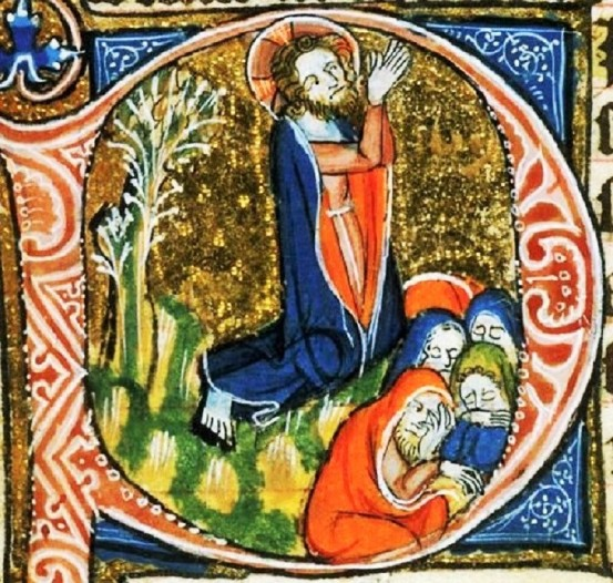 The Agony in the Garden from a 14th-century Book of Hours BL Egerton 2781 f.136v.jpg~original.jpeg