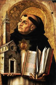 St. Thomas Aquinas from  by Carlo Crivelli
