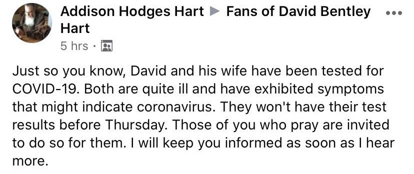 Please pray for the Harts